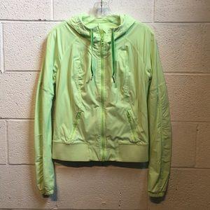 Lululemon lime green jacket size 6 58476